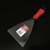Шпатель малярний з нержавійки гумова ручка 120мм OLEJNIK, фото 1