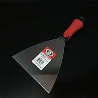 Шпатель малярний з нержавійки гумова ручка 150мм OLEJNIK, фото 1