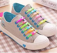 Цветные силиконовые шнурки для обуви 6 шт.
