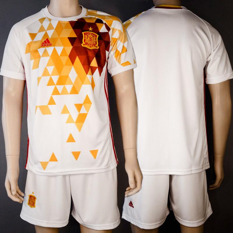 Форма футбольная сборной Испании (реплика) безномерная гостевая EURO 2016