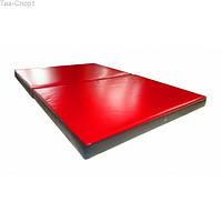 Мат гимнастический складной 150-100-8 см с 2-х частей