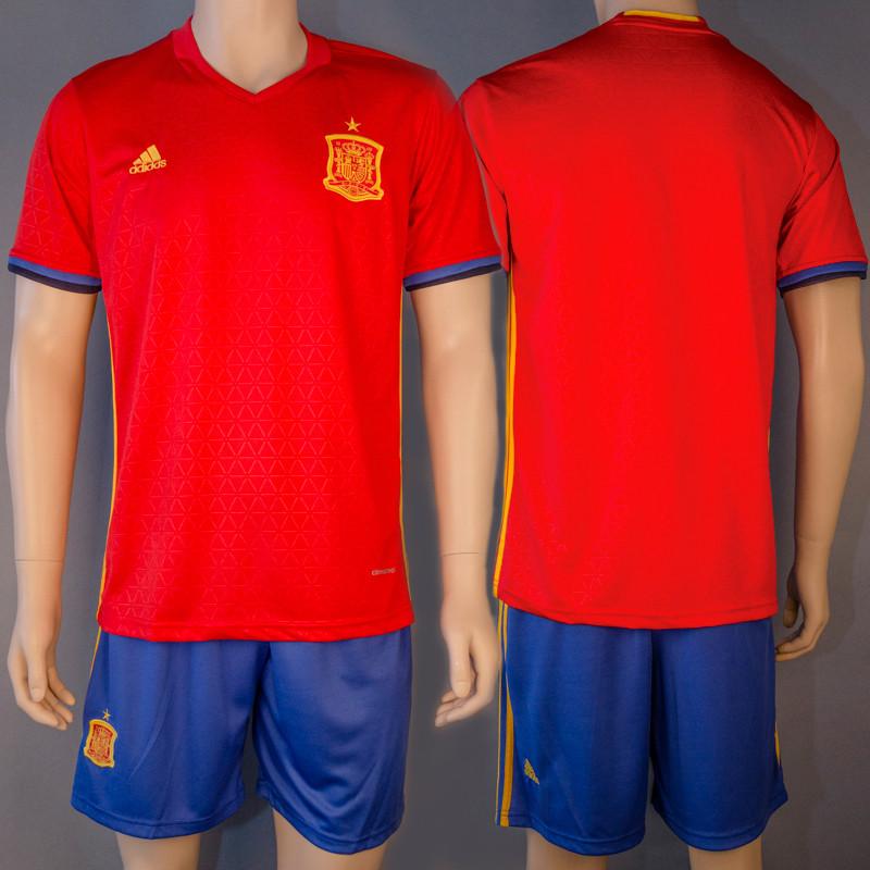 Форма футбольная сборной Испании (реплика) безномерная основная EURO 2016