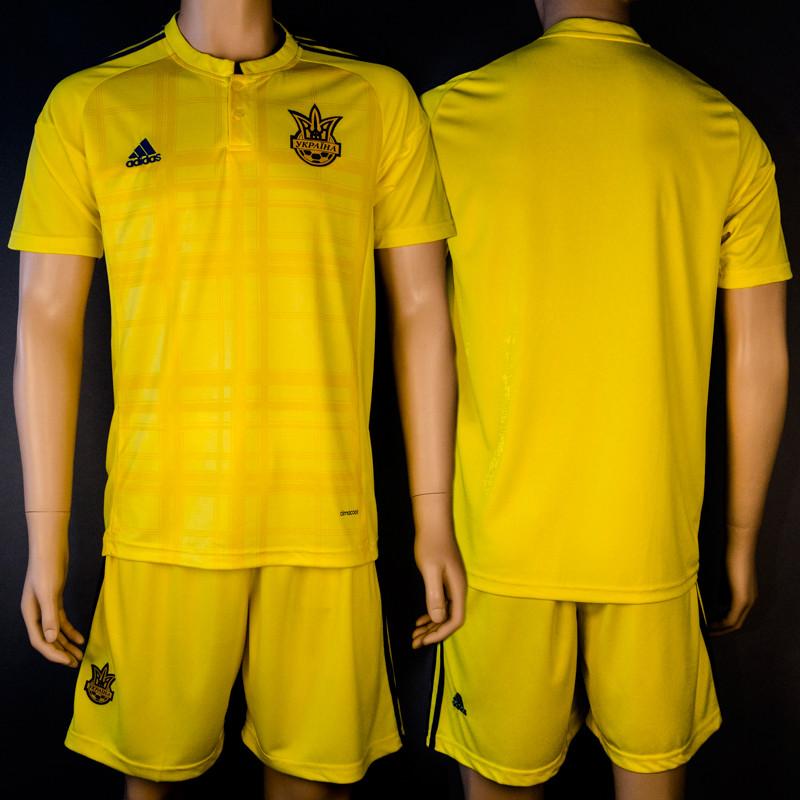 Футбольная форма сборной Украины (реплика) безномерная основная EURO 2016