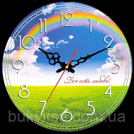 """Часы настенные круглые """"Бог есть любовь!"""", фото 2"""