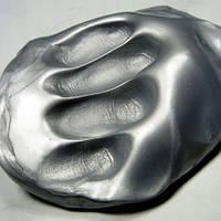 Жвачка для рук Серебро 80г, Handgum, Silly Putty, подарок коллеге по работе