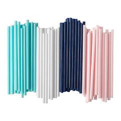 Набор трубочек IKEA SÖTVATTEN 100 шт темно-синий белый розовый бирюзовый 503.653.23