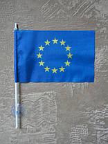 Комплект флажок Украины, Евросоюза и вымпел В-2дк авто, фото 2
