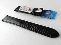Ремешок Hightone, кожаный, анти-аллергенный, черный в стиле крокодила, фото 1