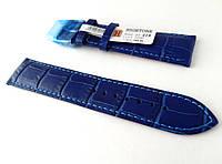 Ремешок Hightone, кожаный, анти-аллергенный, синий, фото 1