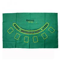 Сукно для покера и блэкджека 92 х 58 см