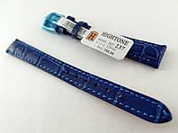 Ремінець Hightone, шкіряний, анти-алергенний, синій, фото 1