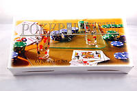 Покер набор с рюмками на 63 фишки, покер