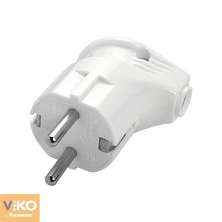 Вилка электрическая с заземляющим контактом Viko, 90304200
