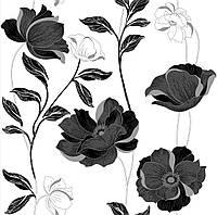 Шпалери паперові Єсенія 1269 чорно-білі, фото 1
