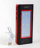 Мобильный power bank 36000mAh c зарядкой от солнечной батареи, светильник, 3xUSB, фото 7