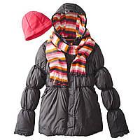 Деми куртка с шарфом и шапкой Pink Platinum (США); 4 года, фото 1