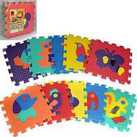 Детский развивающие Коврик пазлы Животные EVA  2617 -  10  деталей по 31.5х31.5х10 см