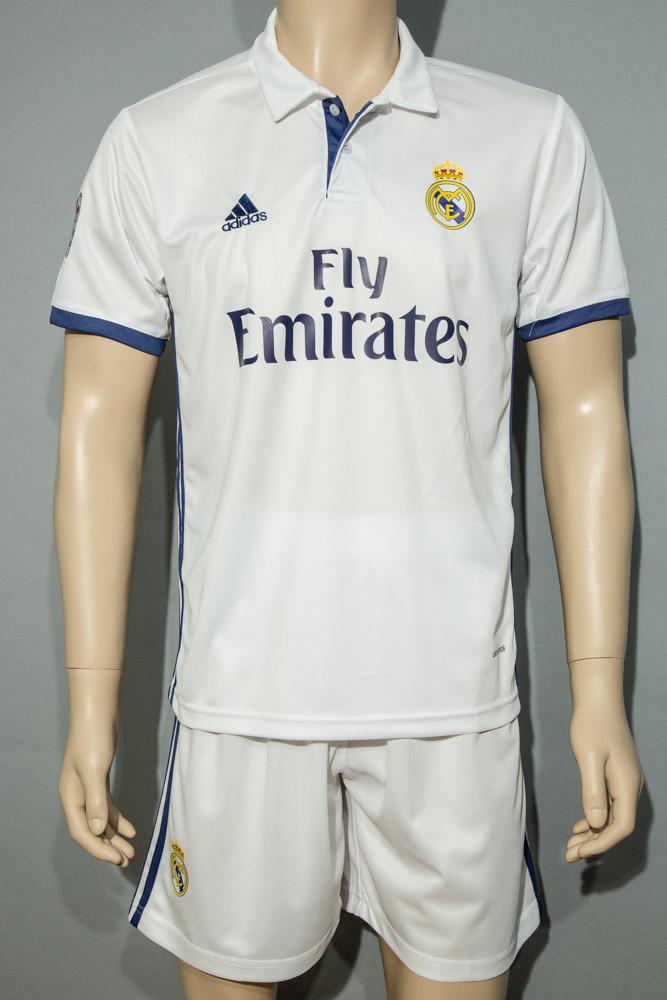 Комплект футбольной формы Real Madrid Ronaldo 2016-2017 (Реал Мадрид Роналдо) белая (реплика)