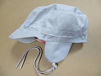 Летняя шапочка с козырьком мальчикам 3-6 месяцев