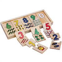 Деревянная игра Пазлы домино, M00820, 000392