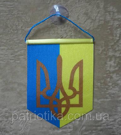 Вымпел Украины двухцветный | Вимпел України двоколірний 13х9 см, фото 2