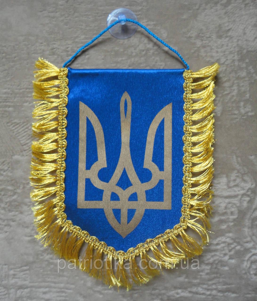 Вимпел України   Вимпел України 16х11 см з бахромою   з бахромою