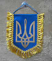 Вымпел Украины   Вимпел України 16х11 см с бахромой   з бахромою