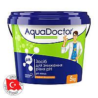 Средство для понижения кислотности в бассейне pH минус  5 кг Аквадоктор