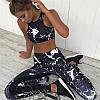 Комплект спортивный женский  Marble(лосины + топ)