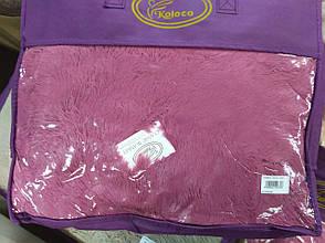 Покрывало плед Травка Koloco 220х240 пепельная роза, фото 2