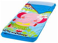 Детский односпальный надувной матрас Intex + ручной мини-насос 64x152x20 см (66802)