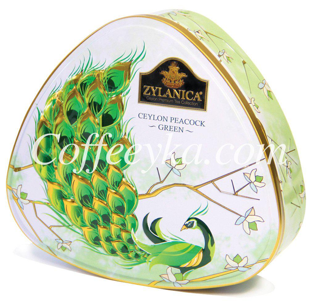 Чай зелений Zylanica Ceylon Blue Green Зелений Павич 100г ж/б.