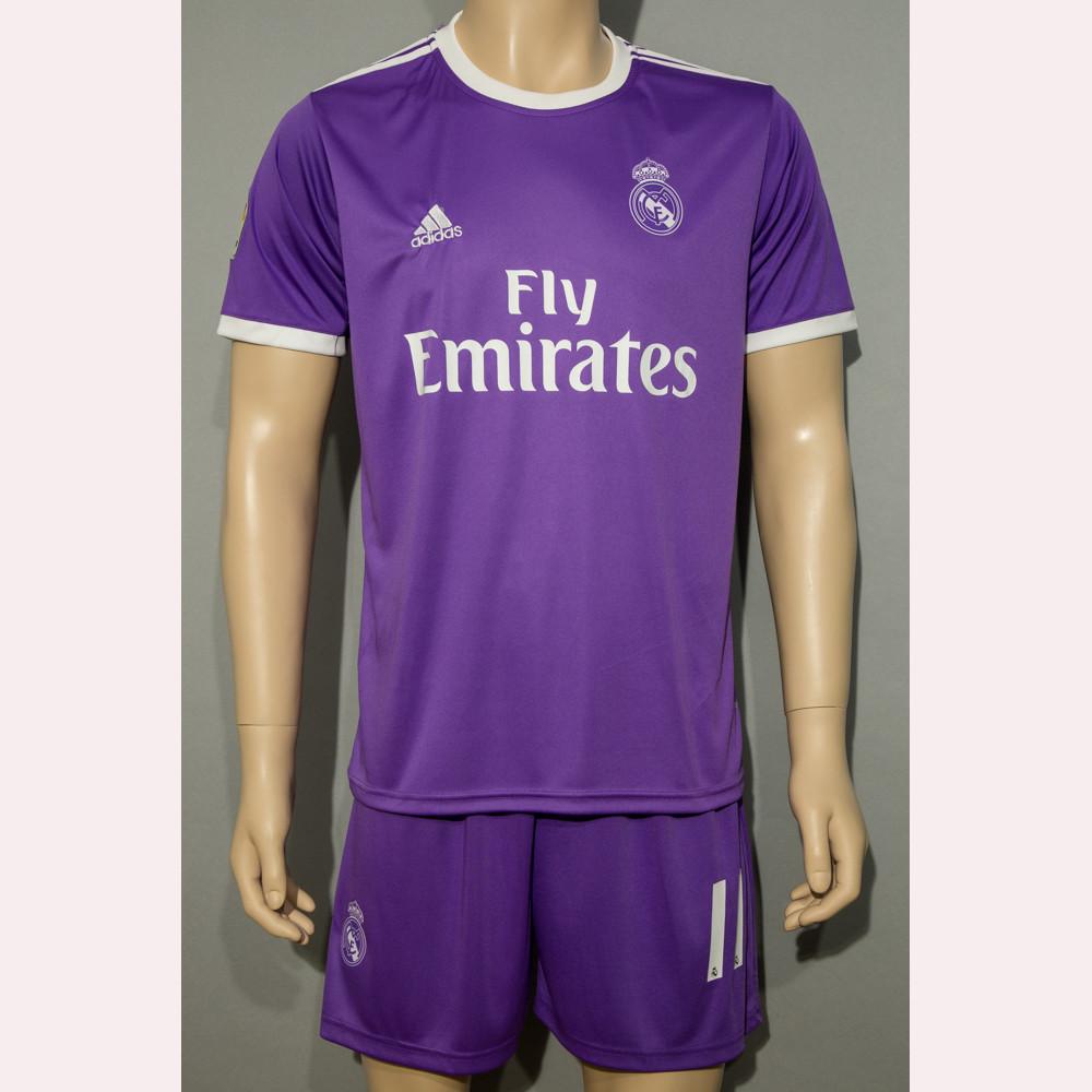 Футбольна форма Реал Мадрид Бейл 2016-2017(Real Madrid Bale) гостьова (репліка)