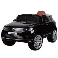 Детский электромобиль Volkswagen Touareg M 3670 EBRL-2: 70W, кожа, EVA, 8 км/ч - ЧЕРНЫЙ - купить оптом , фото 1