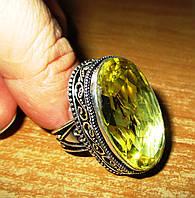 """Шикарное кольцо """"Василиса"""" с цитрином, размер 18,8  от студии LadyStyle.Biz"""