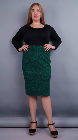 Жіноча спідниця батал Клер для офісу зелений 50 206c6ac009d7c