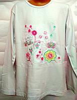 Модный реглан,лонгслив  Цветы для девочки 11-13 лет , фото 1