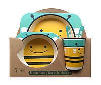 Набор детской ЭКО-посуды из бамбукового волокна bee