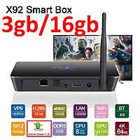 X92 3гб 16гб Amlogic S912 8 Ядер Андроид 7 Смарт ТВ Бокс Smart Tv Box Android 7  Приставка