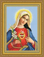 """Бісерна заготовка """"Найсвятіше серце Марії""""ТО-085"""