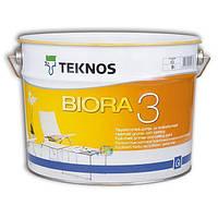 Краска акриловая TEKNOS BIORA 3 для потолков 9 л
