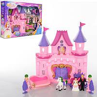 Замок принцессы, музыка, свет, фигурки, карета с лошадками, диван, SG-2965