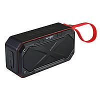 Колонка Bluetooth W-KING S18 Black Red