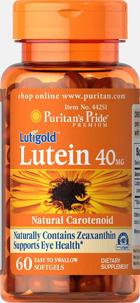 Puritan's Pride Lutein 40 mg with Zeaxanthin 60 Softgels