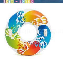 Надувной круг с ручками «Вихрь цвета» Intex 58202