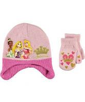 Демисезонный комплект шапка и варежки Disney Princess; 12-24 мес, фото 1