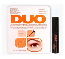 Клей для накладных ресниц с витаминами с кистью, черный Duo Brush On Dark Adhesive №56896
