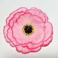 """Искусственные цветочные головки """"Мак розовый"""" 50 шт. в упаковке, (диаметр 95 мм)"""