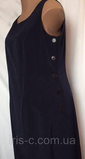 Платье женское, большой размер, элегантное,темно синее, размер 54/56