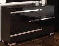 Комод з ДСП/МДФ в спальню, вітальню, дитячу Екстаза чорний Світ Меблів